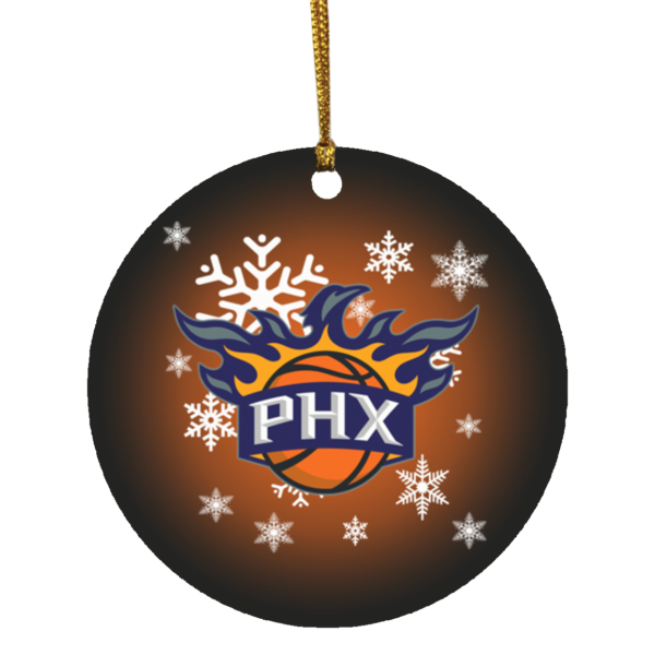 Phoenix Suns Merry Christmas Circle Ornament