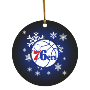Philadelphia 76ers Merry Christmas Circle Ornament
