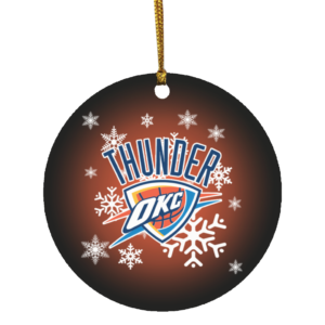 Oklahoma City Thunder Merry Christmas Circle Ornament
