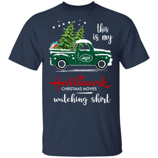 New York Jets This Is My Hallmark Christmas Movies Watching Shirt