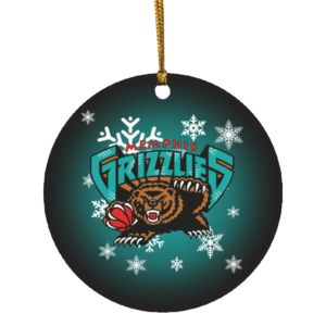 Memphis Grizzlies Merry Christmas Circle Ornament