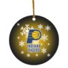 Indiana Pacers Merry Christmas Circle Ornament