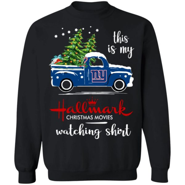 New York Giants This Is My Hallmark Christmas Movies Watching Shirt