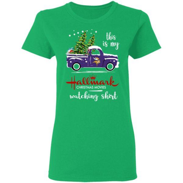 Minnesota Vikings This Is My Hallmark Christmas Movies Watching Shirt