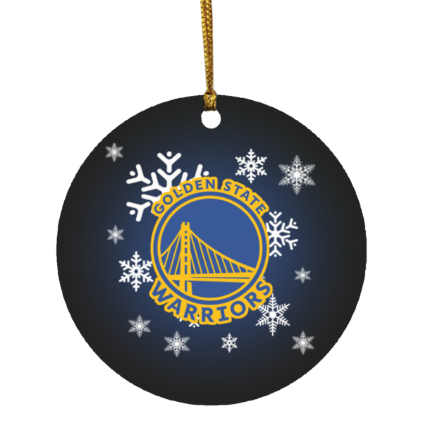 Golden State Warriors Merry Christmas Circle Ornament