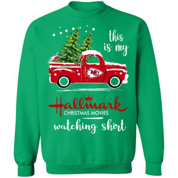 Kansas City Chiefs This Is My Hallmark Christmas Movies Watching Shirt