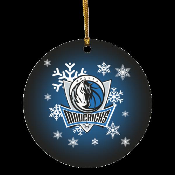 Dallas Mavericks Merry Christmas Circle Ornament