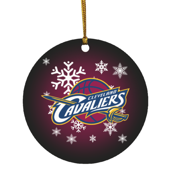 Cleveland Cavaliers Merry Christmas Circle Ornament