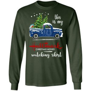 Indianapolis Colts This Is My Hallmark Christmas Movies Watching Shirt