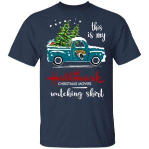 Jacksonville Jaguars This Is My Hallmark Christmas Movies Watching Shirt