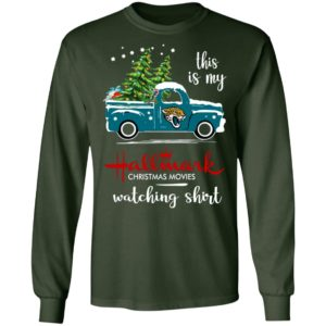 Jacksonville Jaguars This Is My Hallmark Christmas Movies Watching Shirt