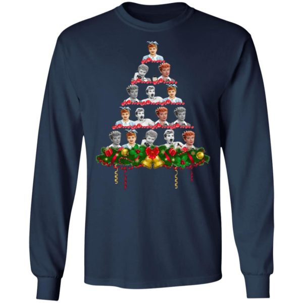 Lucille Ball Christmas tree sweatshirt