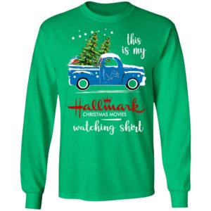Detroit Lions This Is My Hallmark Christmas Movies Watching Shirt