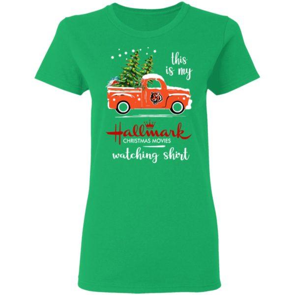 Cincinnati Bengals This Is My Hallmark Christmas Movies Watching Shirt