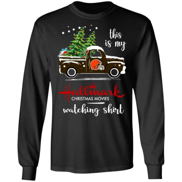 Cleveland Browns This Is My Hallmark Christmas Movies Watching Shirt