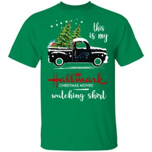 Carolina Panthers This Is My Hallmark Christmas Movies Watching Shirt