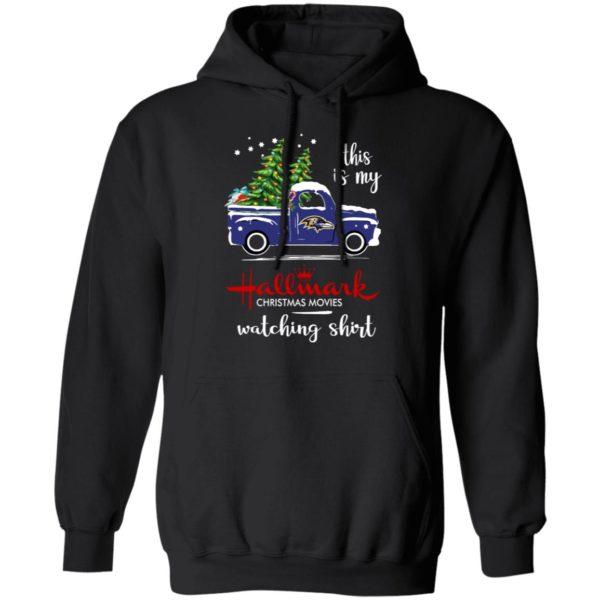Baltimore Ravens This Is My Hallmark Christmas Movies Watching Shirt