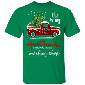 Atlanta Falcons This Is My Hallmark Christmas Movies Watching Shirt