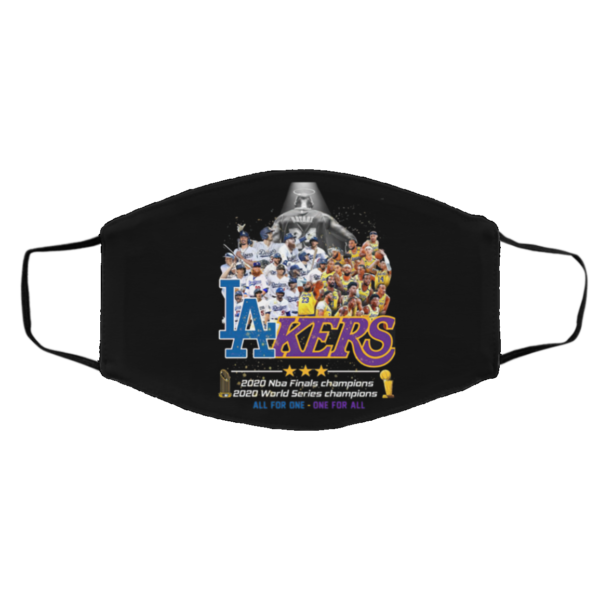 Los Angeles Dodgers And Lakers All Team 2020 NBA Finals Champions face mask