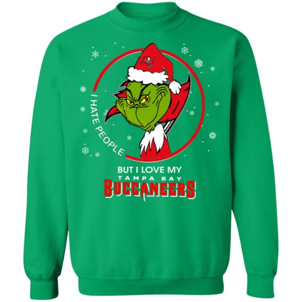 I Hate People But I Love My Tampa Bay Buccaneers Grinch Shirt