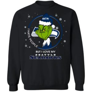 I Hate People But I Love My Seattle Seahawks Grinch Shirt