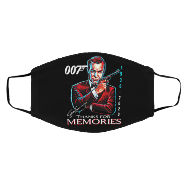 007 Sean Connery 1930 2020 Thank You For The Memories Signature face mask
