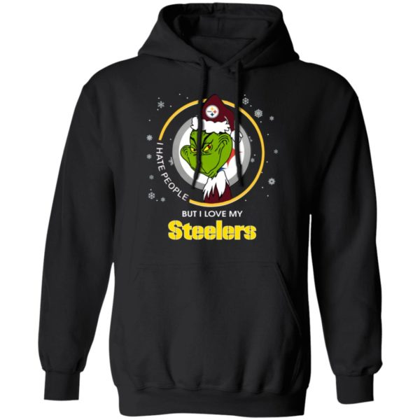 I Hate People But I Love My Pittsburgh Steelers Grinch Shirt