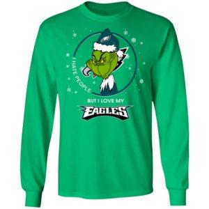 I Hate People But I Love My Philadelphia Eagles Grinch Shirt