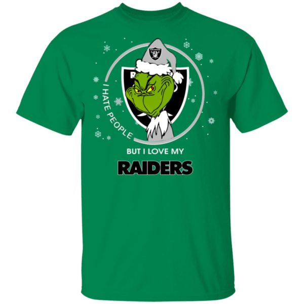 I Hate People But I Love My Oakland Raiders Grinch Shirt
