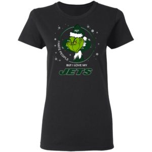 I Hate People But I Love My New York Jets Grinch Shirt