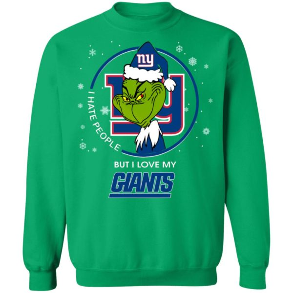 I Hate People But I Love My New York Giants Grinch Shirt