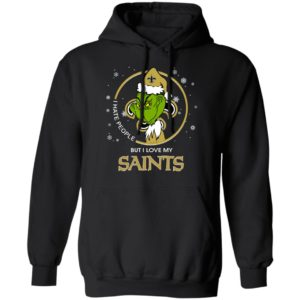 I Hate People But I Love My New Orleans Saints Grinch Shirt