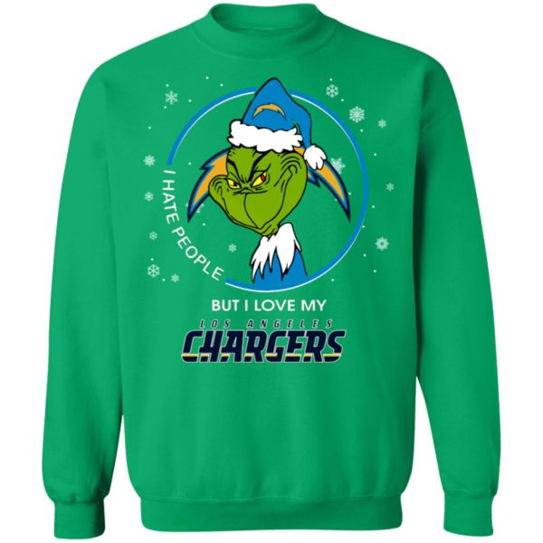 I Hate People But I Love My Los Angeles Chargers Grinch Shirt