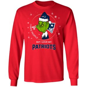 I Hate People But I Love My New England Patriots Grinch Shirt