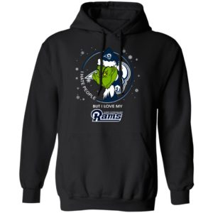 I Hate People But I Love My Los Angeles Rams Grinch Shirt