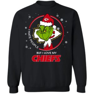 I Hate People But I Love My Kansas City Chiefs Grinch Shirt