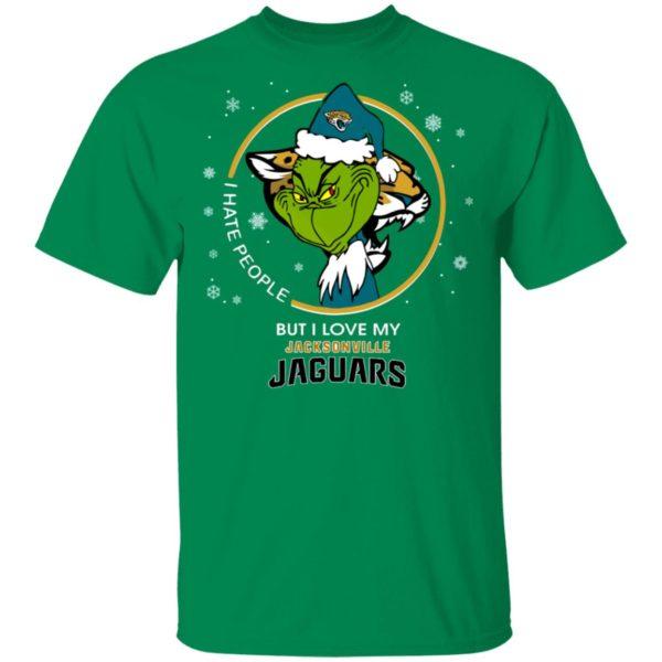 I Hate People But I Love My Jacksonville Jaguars Grinch Shirt