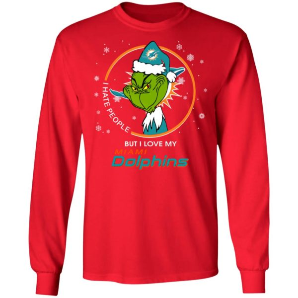 I Hate People But I Love My Miami Dolphins Grinch Shirt