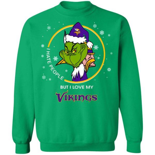 I Hate People But I Love My Minnesota Vikings Grinch Shirt