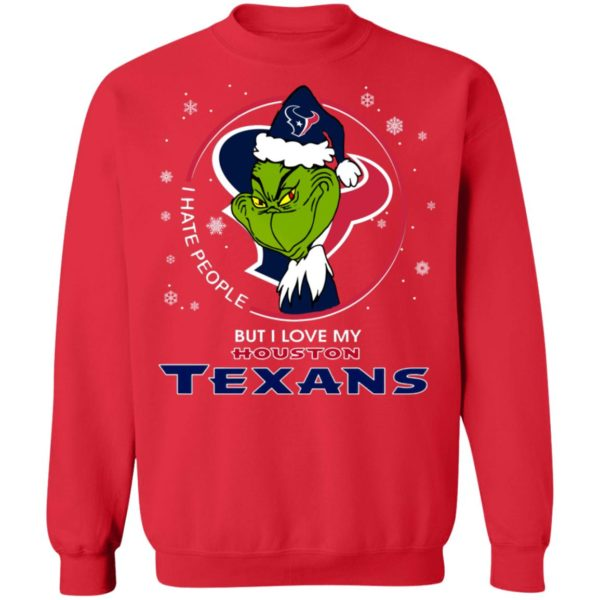 I Hate People But I Love My Houston Texans Grinch Shirt