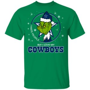 I Hate People But I Love My Dallas Cowboys Grinch Shirt