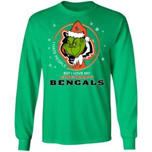 I Hate People But I Love My Cincinnati Bengals Grinch Shirt