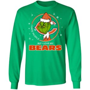 I Hate People But I Love My Chicago Bears Grinch Shirt