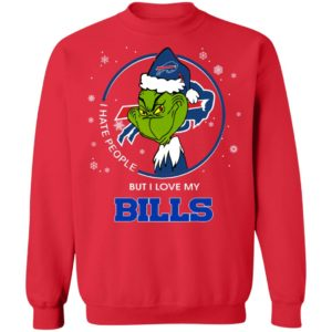 I Hate People But I Love My Buffalo Bills Grinch Shirt