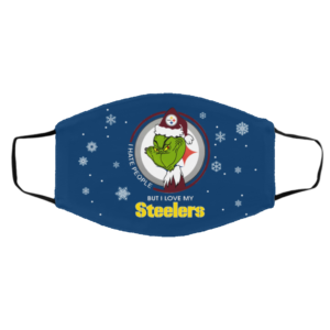 I Hate People But I Love My Pittsburgh Steelers Grinch Face Mask