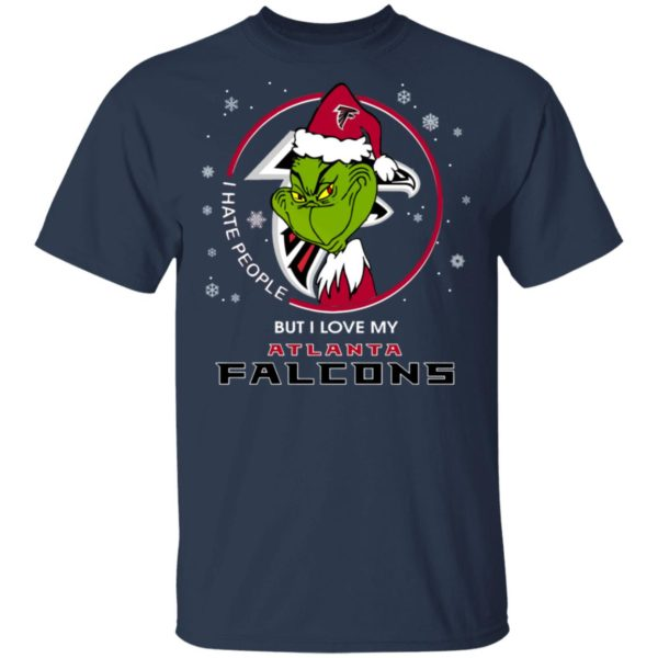 I Hate People But I Love My Atlanta Falcons Grinch Shirt