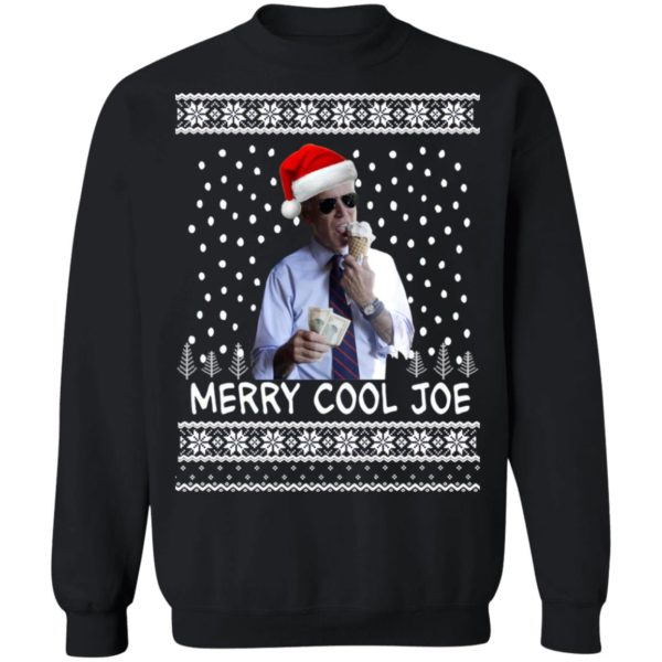 President 2020 Joe Biden Eating an Ice Cream Merry Cool Joe Ugly Christmas Sweater