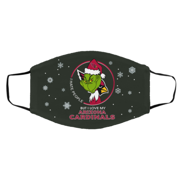 I Hate People But I Love My Arizona Cardinals Grinch Face Mask