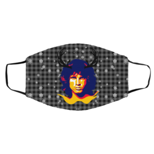 Jim Morrison Merry Christmas Face Mask