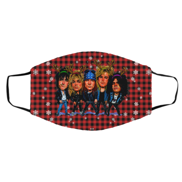 Guns N_ Roses Merry Christmas Face Mask